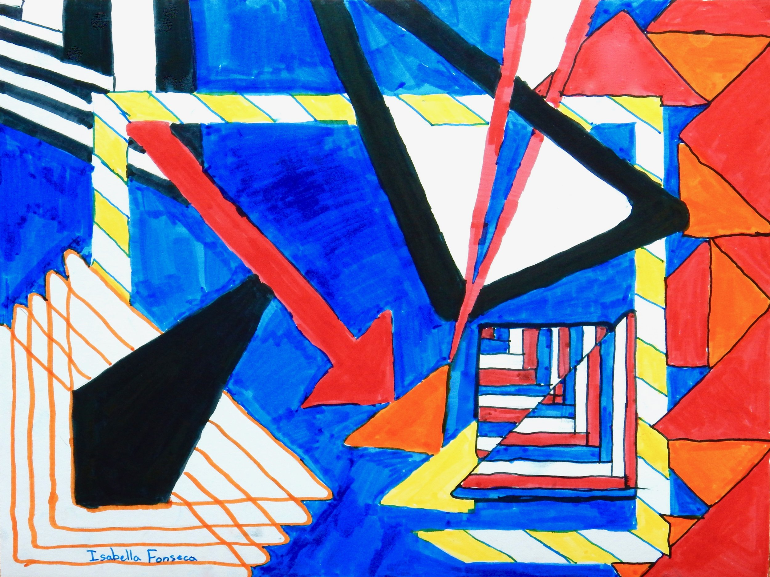 Isabella Fonseca.11 yrs.Triangles in Markers