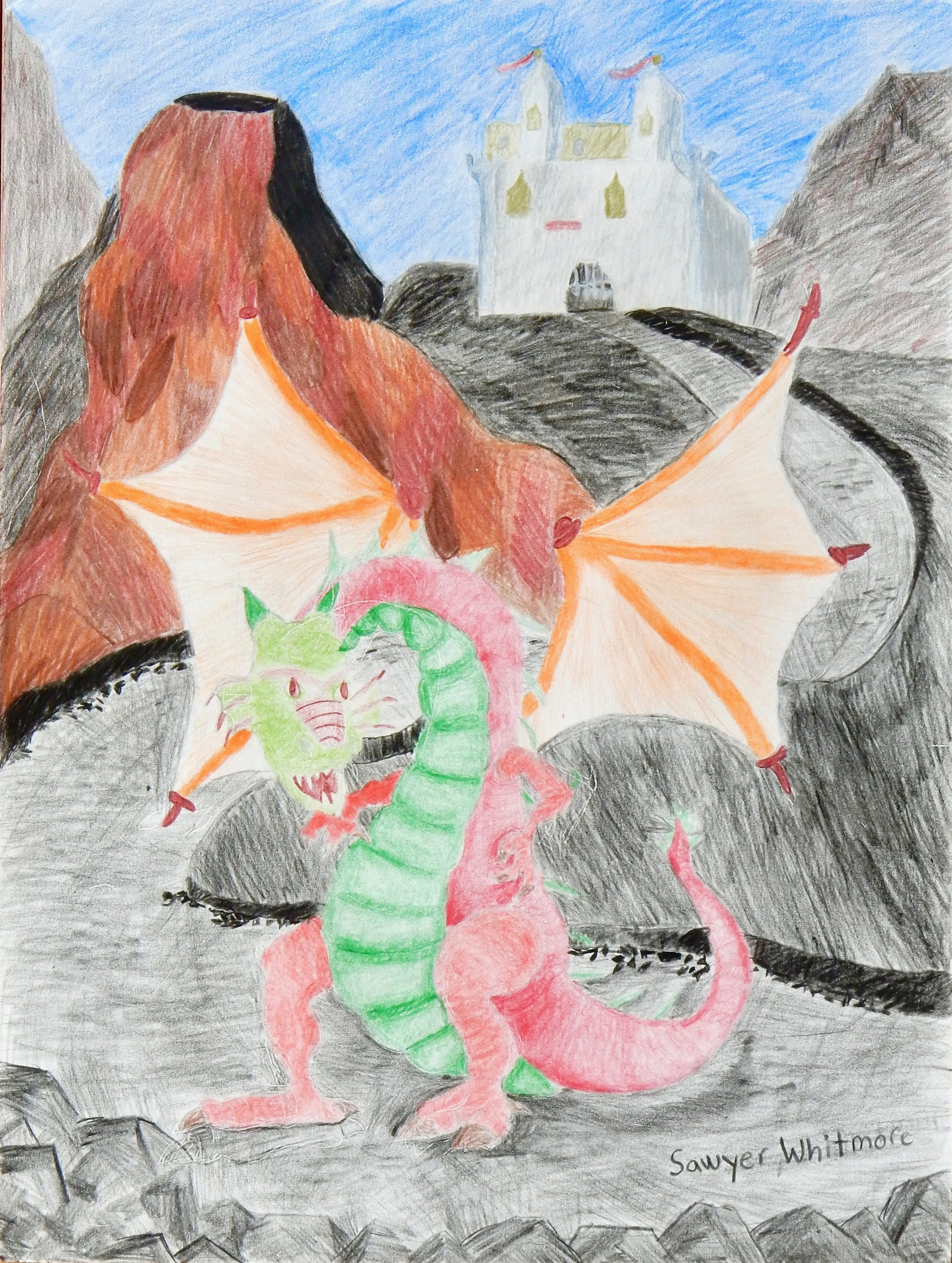 Sawyer Whitmore.11 yrs.colored pencil