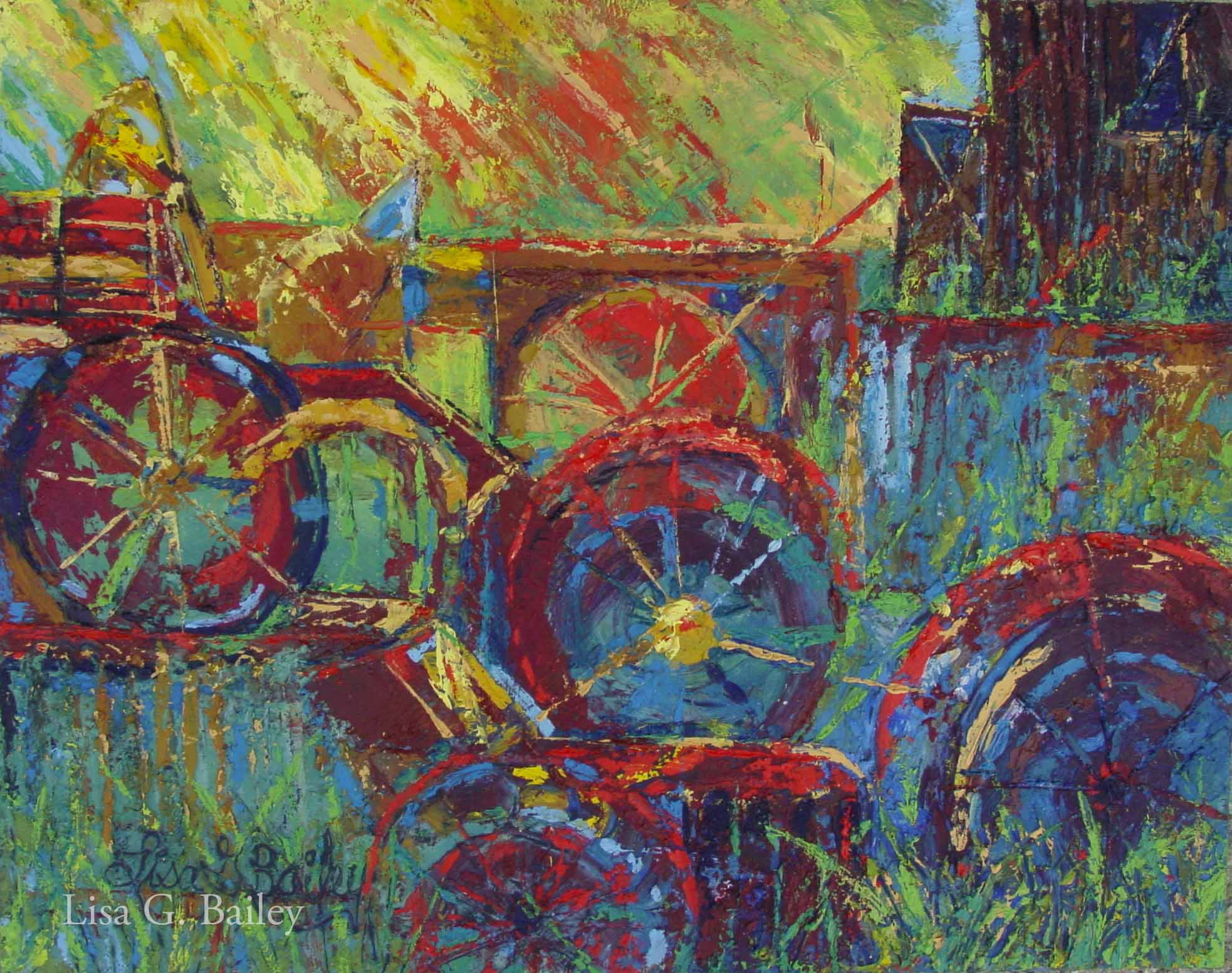 Lisa G Bailey. Wheels. oil