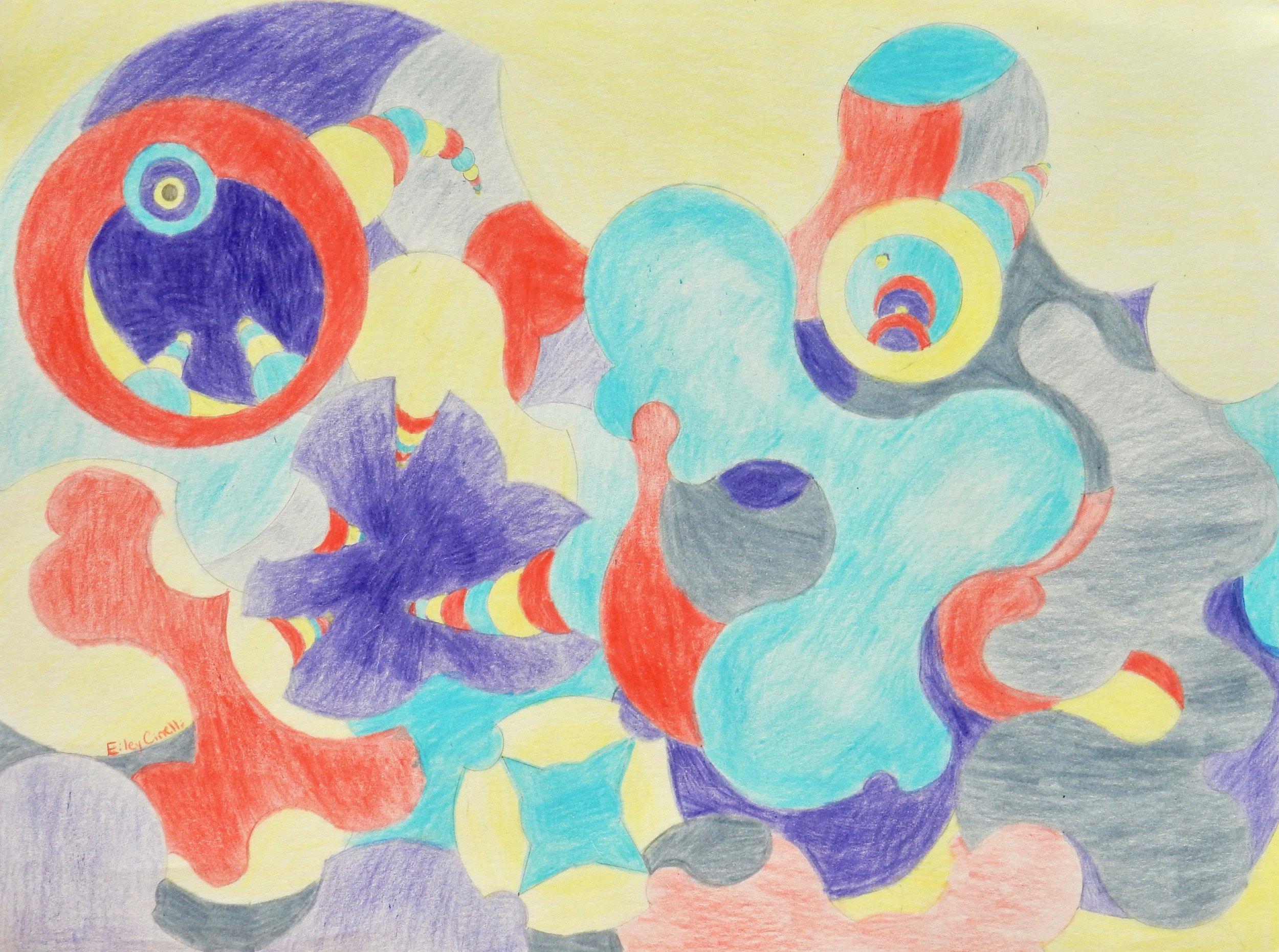 Eiley Cinelli.11 yrs. colored pencil