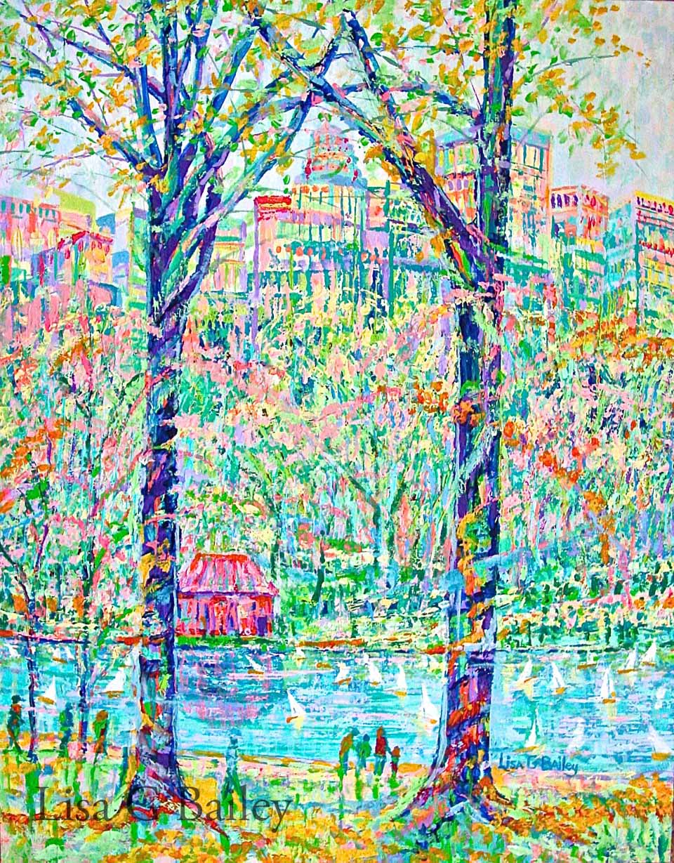Lisa G Bailey, Sail into Spring,acrylic