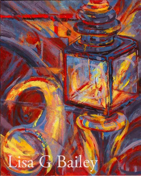 Lisa G Bailey. Night Drive,acrylic
