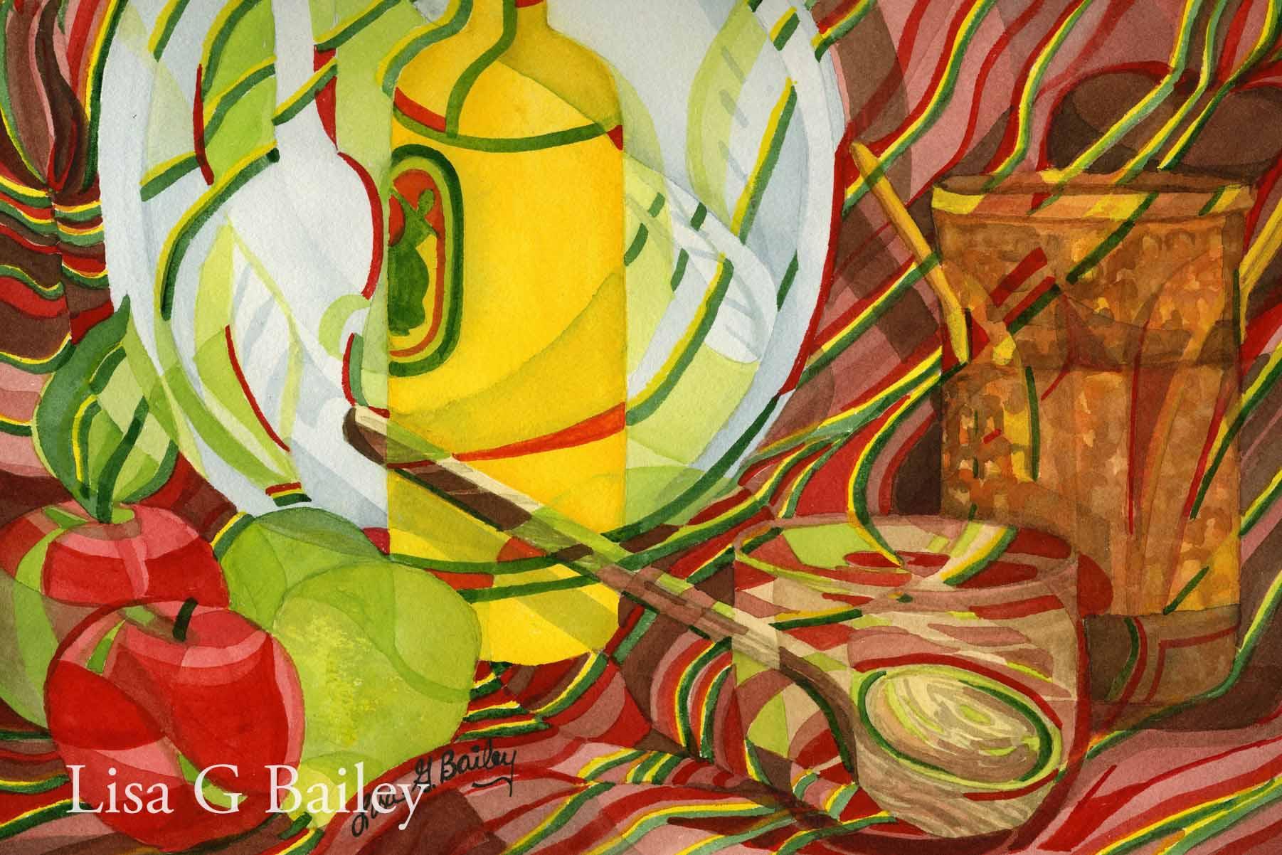 Lisa G Bailey. Preparation. colorweave watercolor