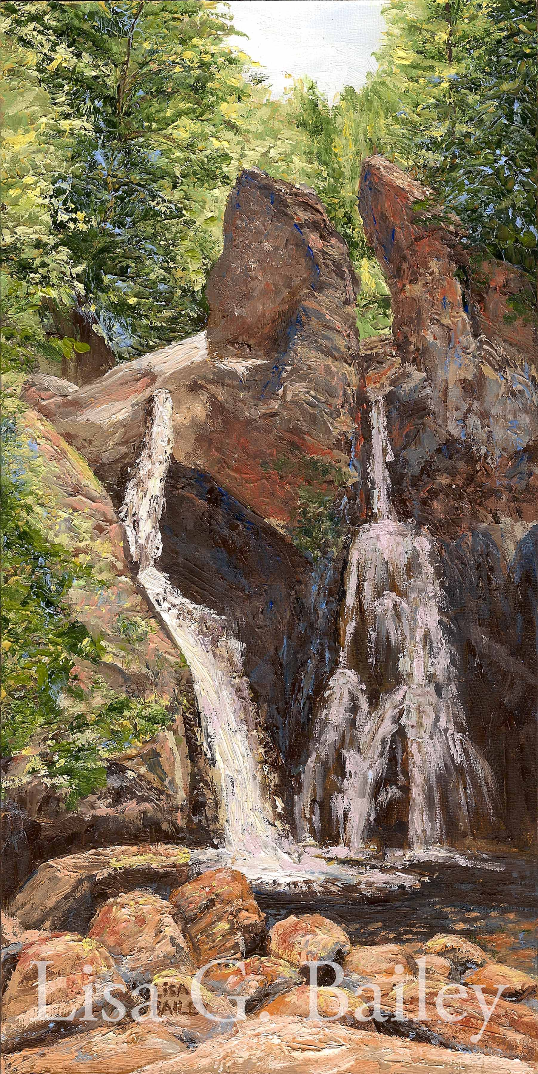 Lisa G Bailey. Bash Fish Falls. oil