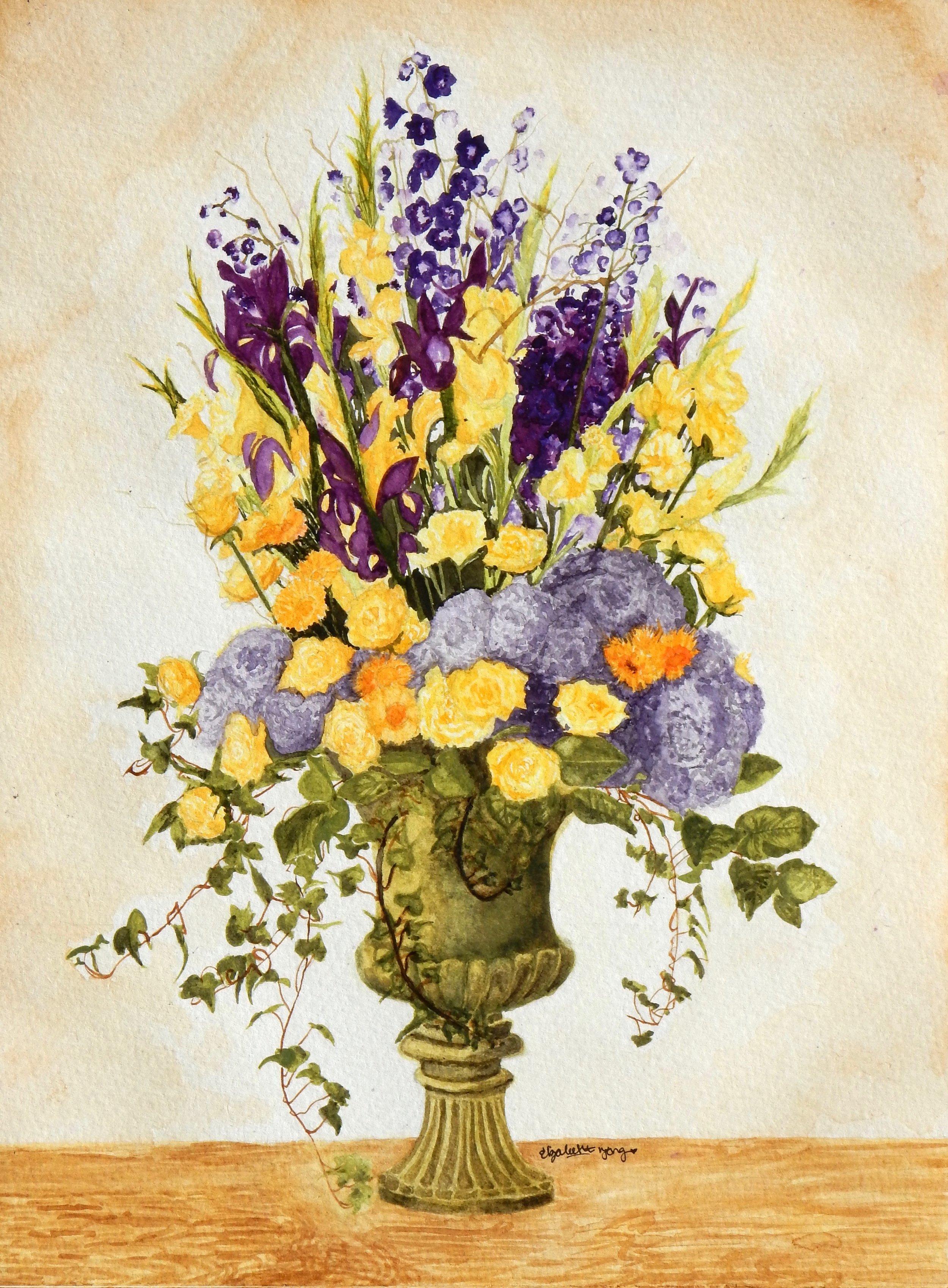 Elizabeth Tang.9th grade.watercolor.Flowers