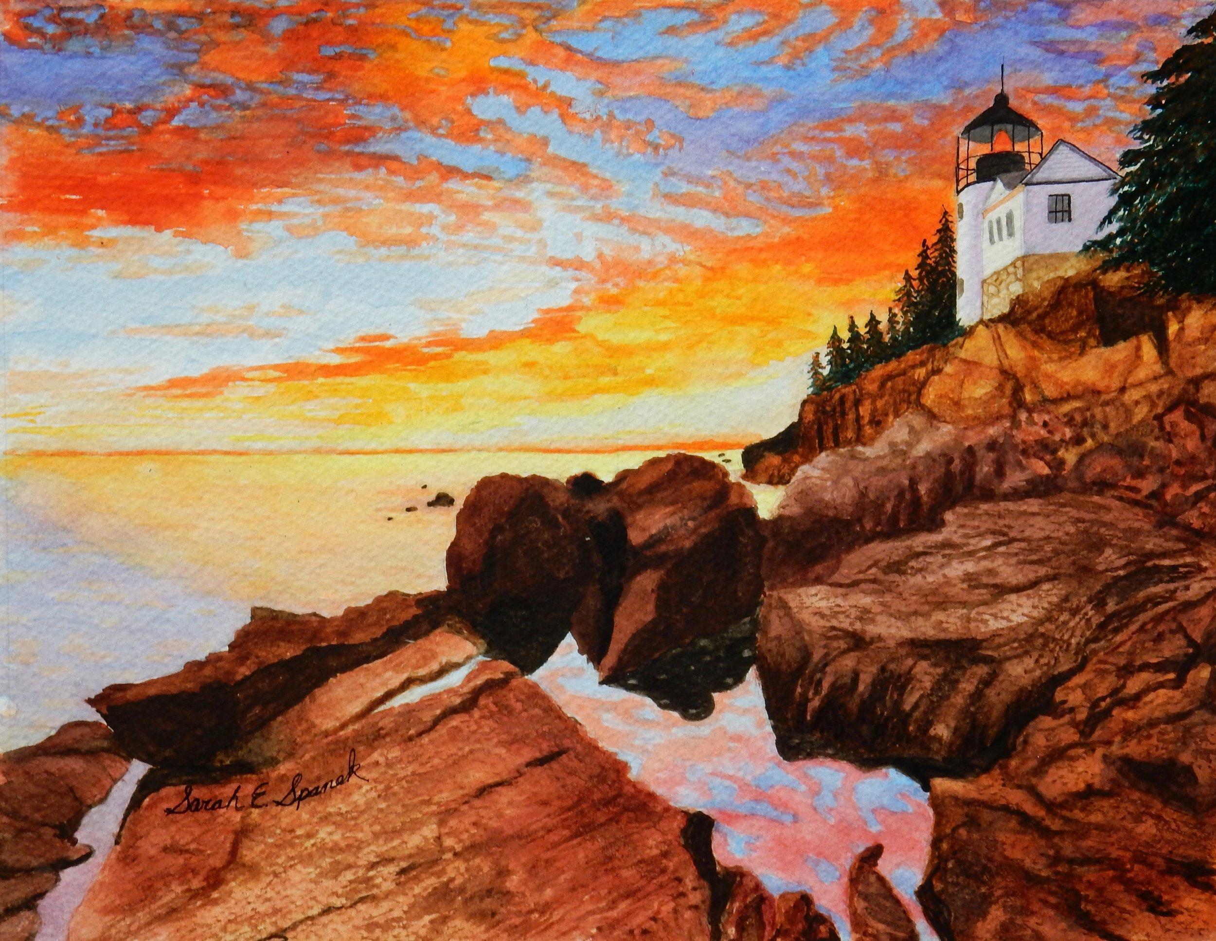 Sarah Spanek.11th grade.watercolor.Summer Night Sunset