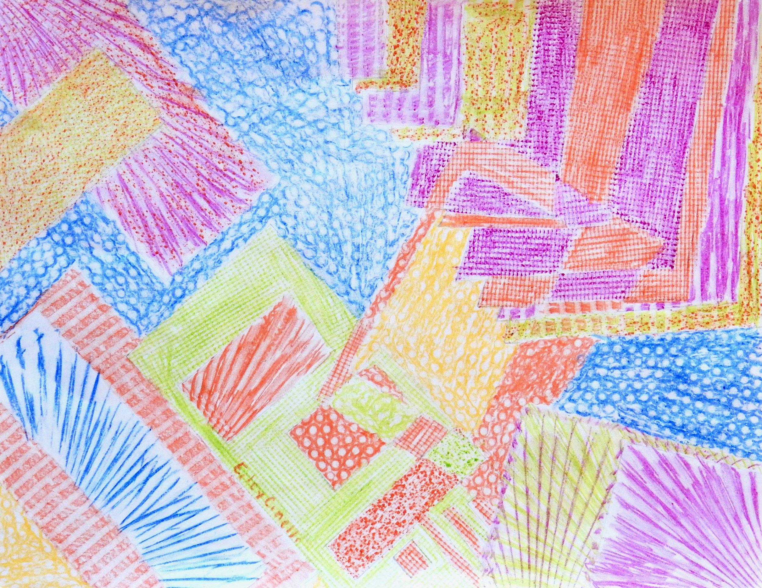 Eiley Cinelli.11 yrs.crayons