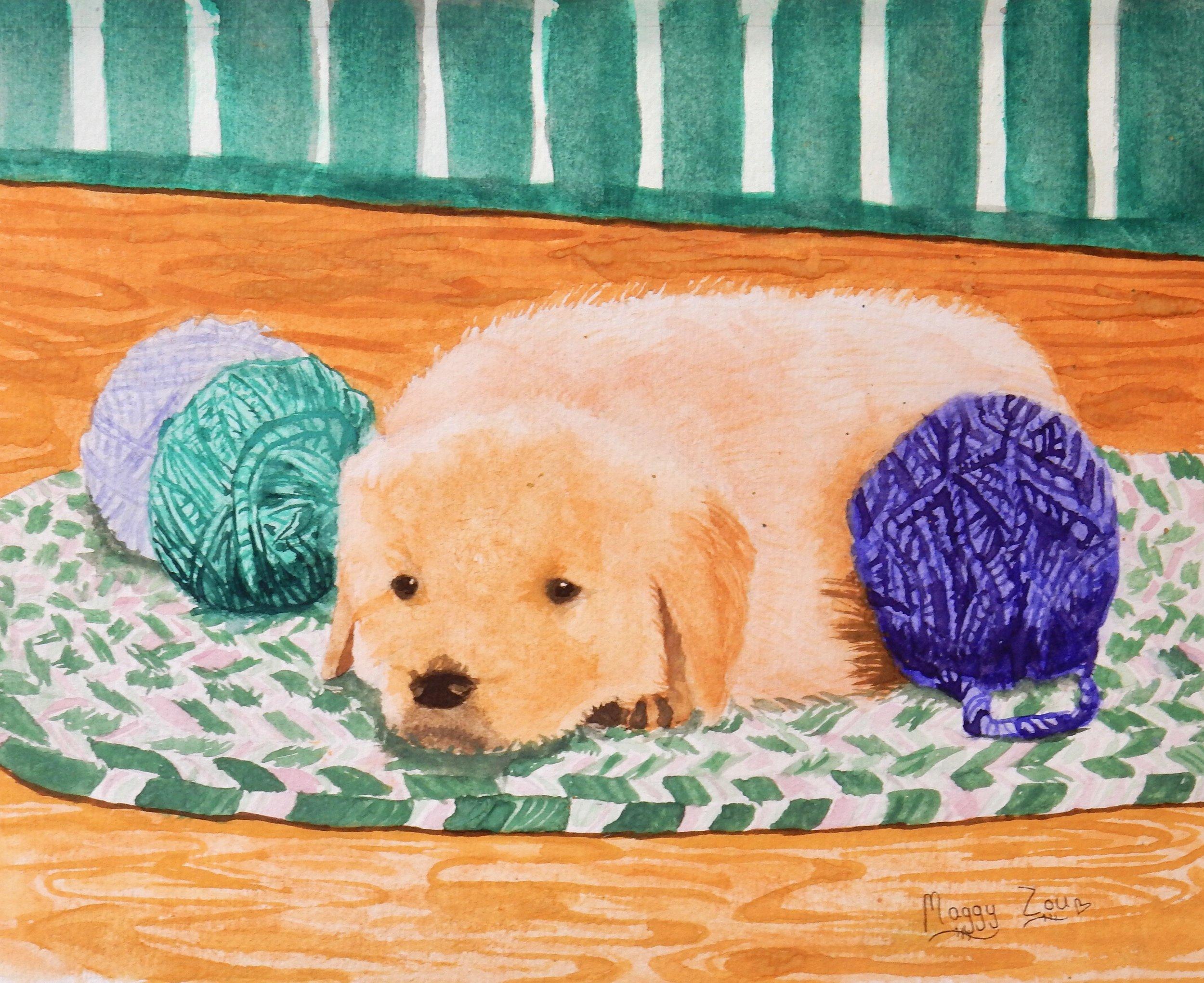 Maggy Zou.11 yrs.watercolor
