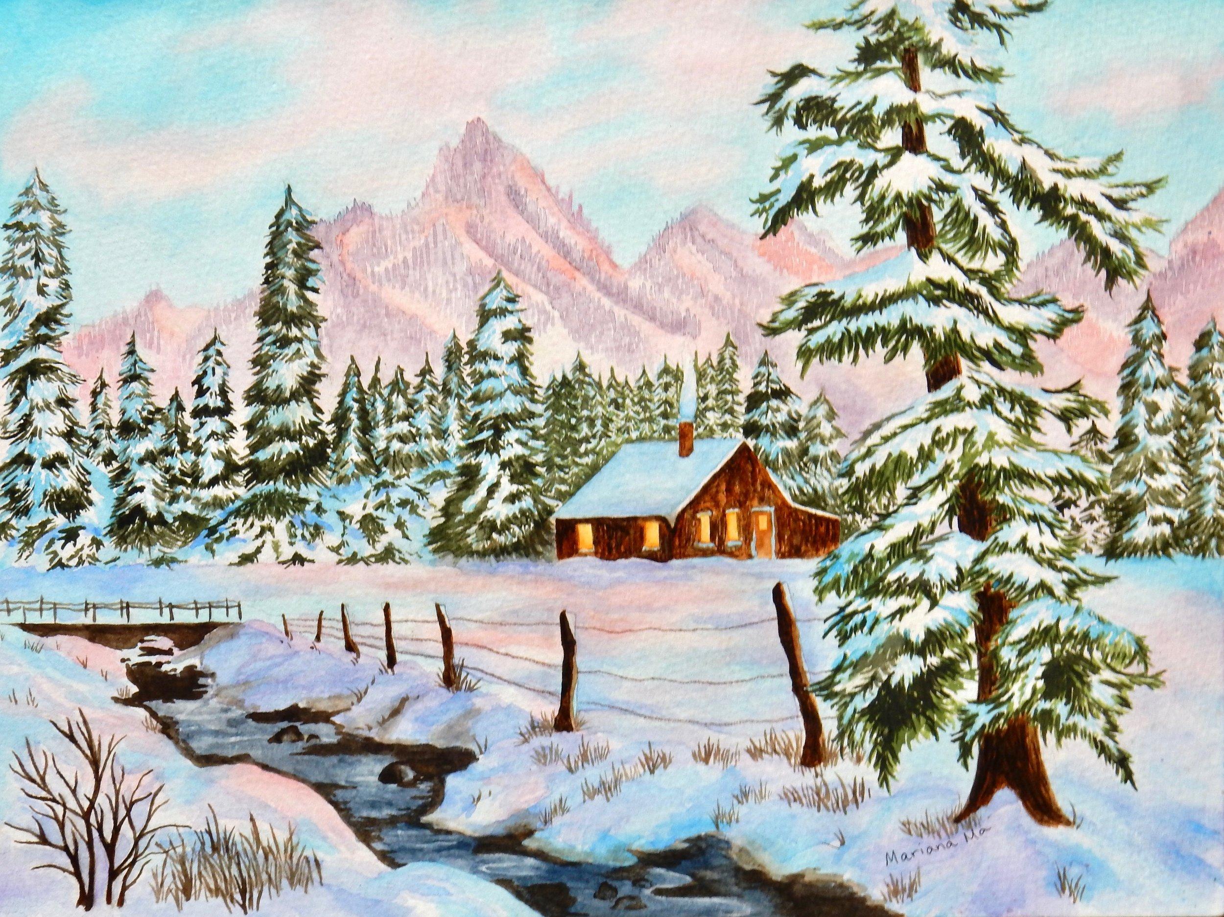 Mariana Ma.watercolor.Winter