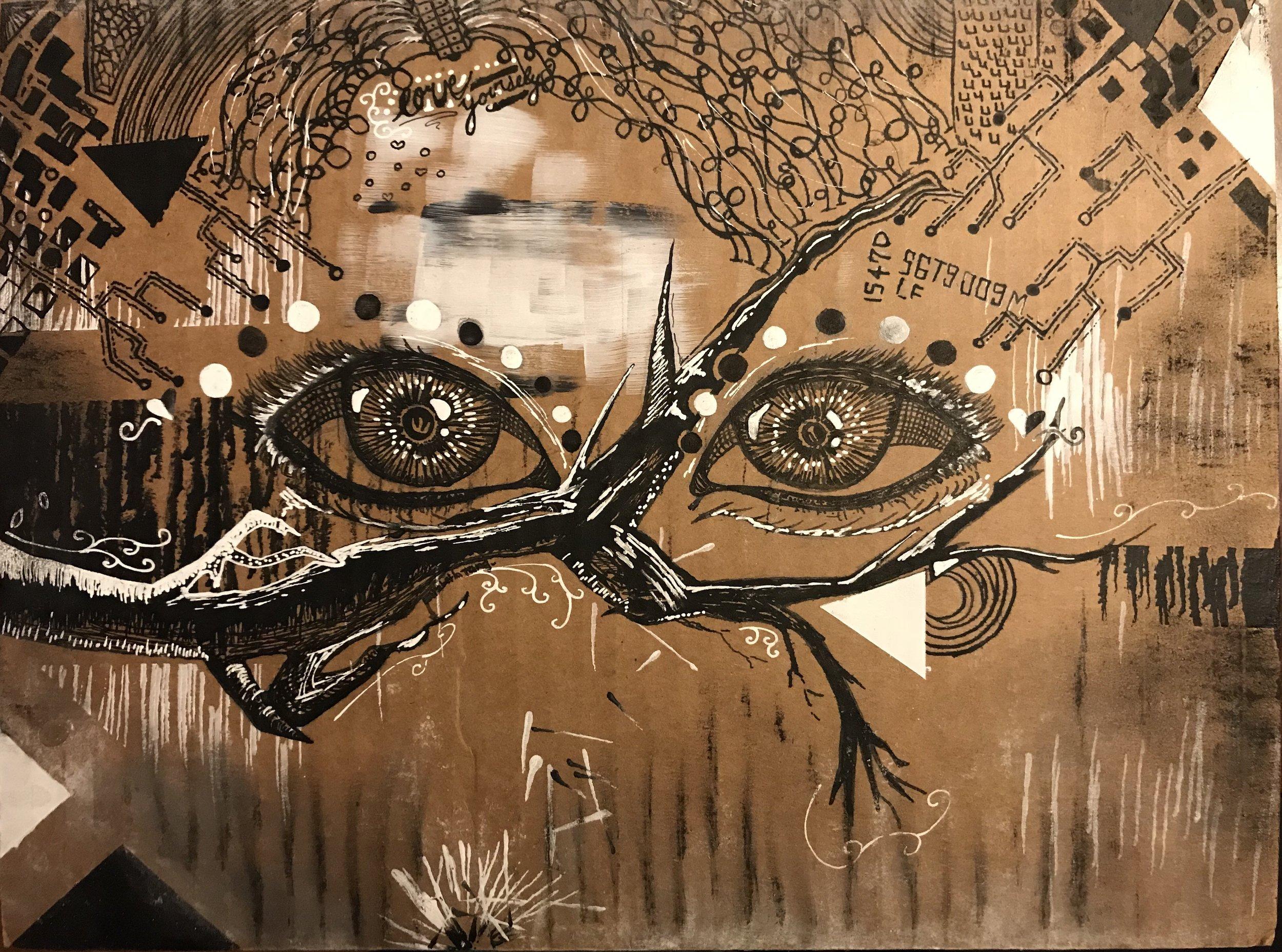 Elizabeth Tang.pen & ink.Watch out