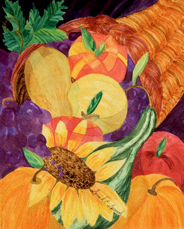 Sarah Spanek.watercolor.Thankful
