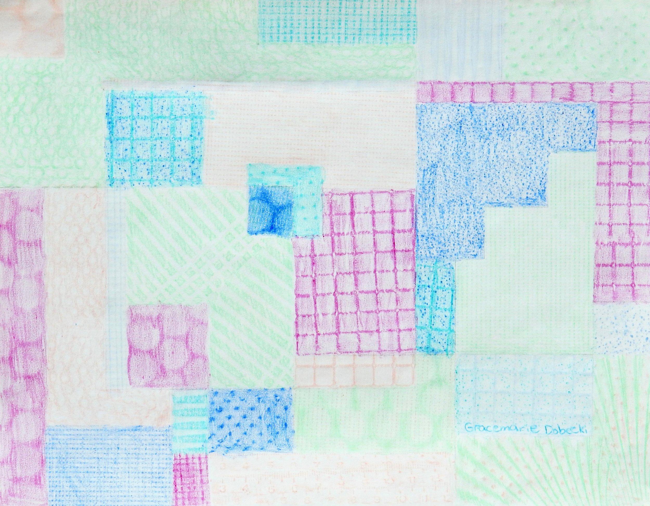 Gracemarie Dobecki.13 yrs.crayons