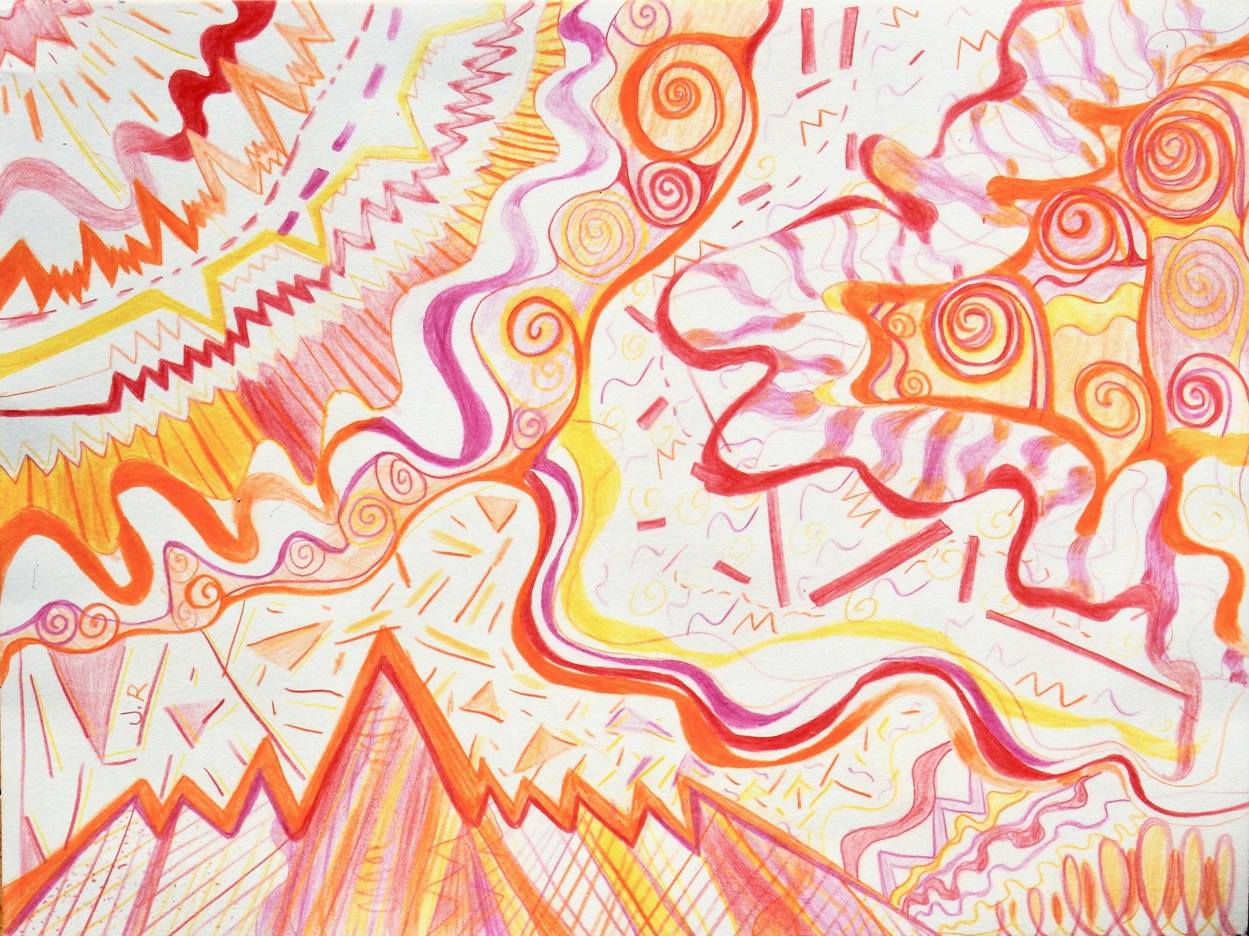 Jonetta Roddy.11 yrs.Joyful.colored pencil