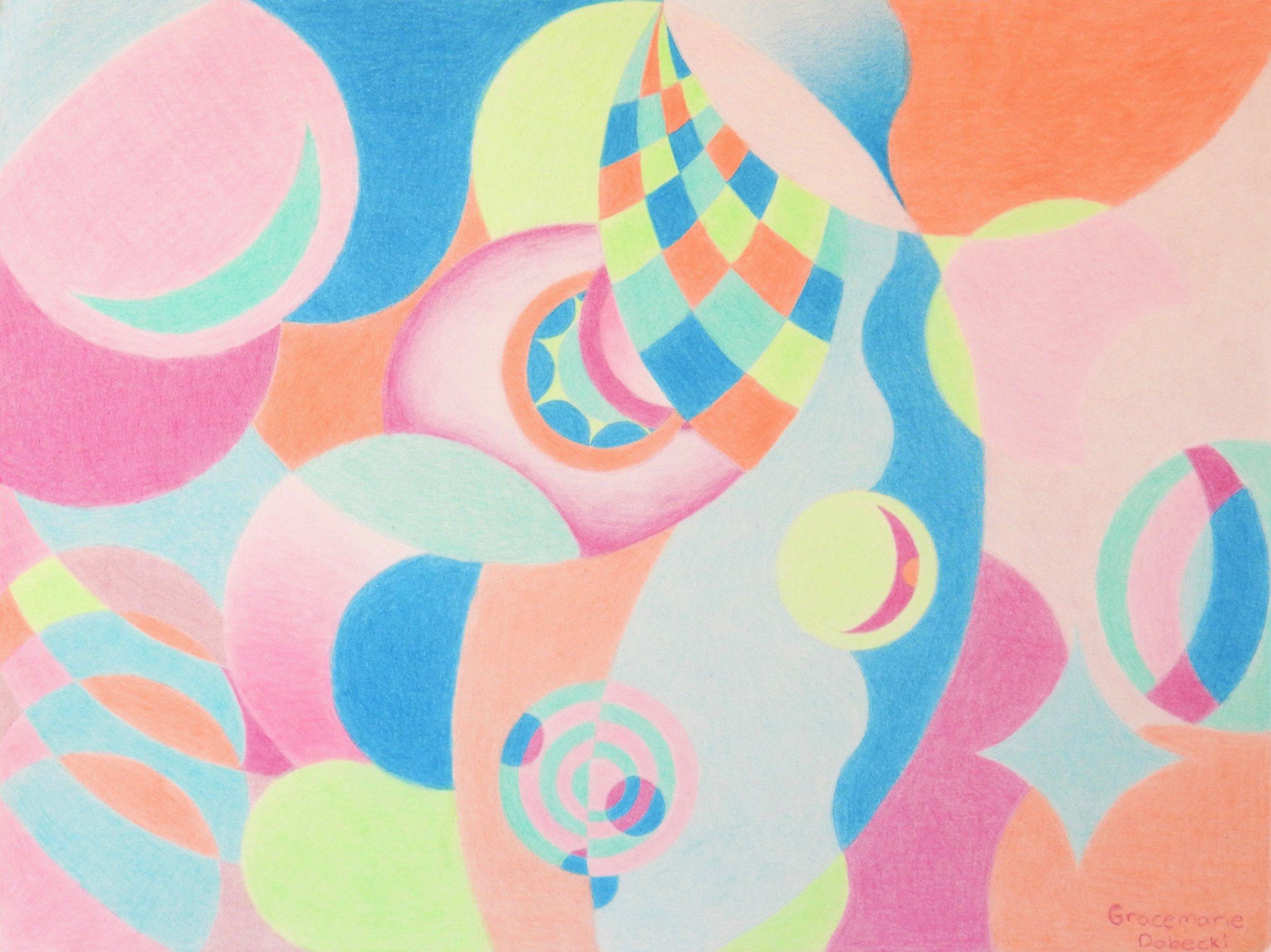 Gracemarie Dobecki.13 yrs.Bright Future.colored pencil