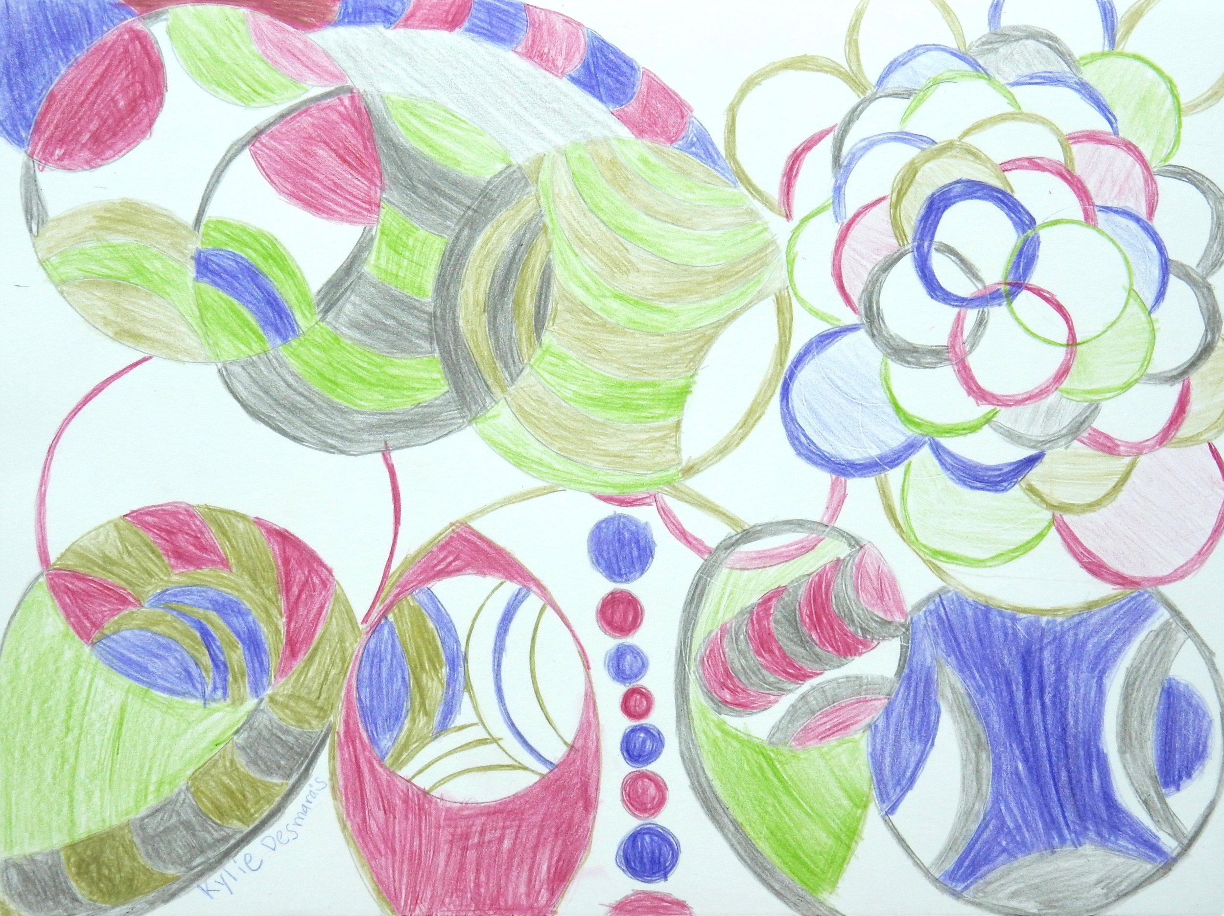 Kylie Desmarais.8 yrs old.colored pencil
