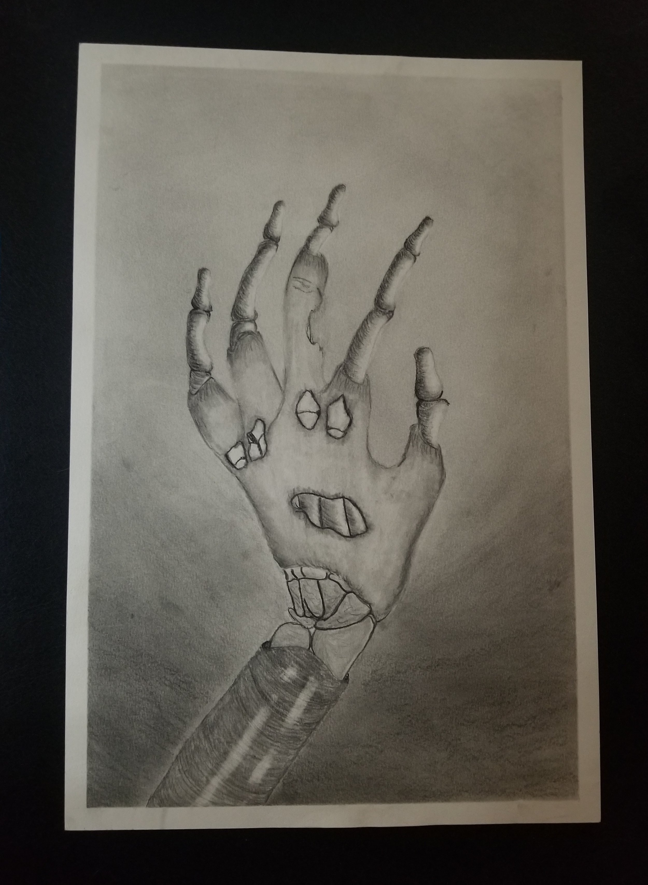 The Hand. charcoal