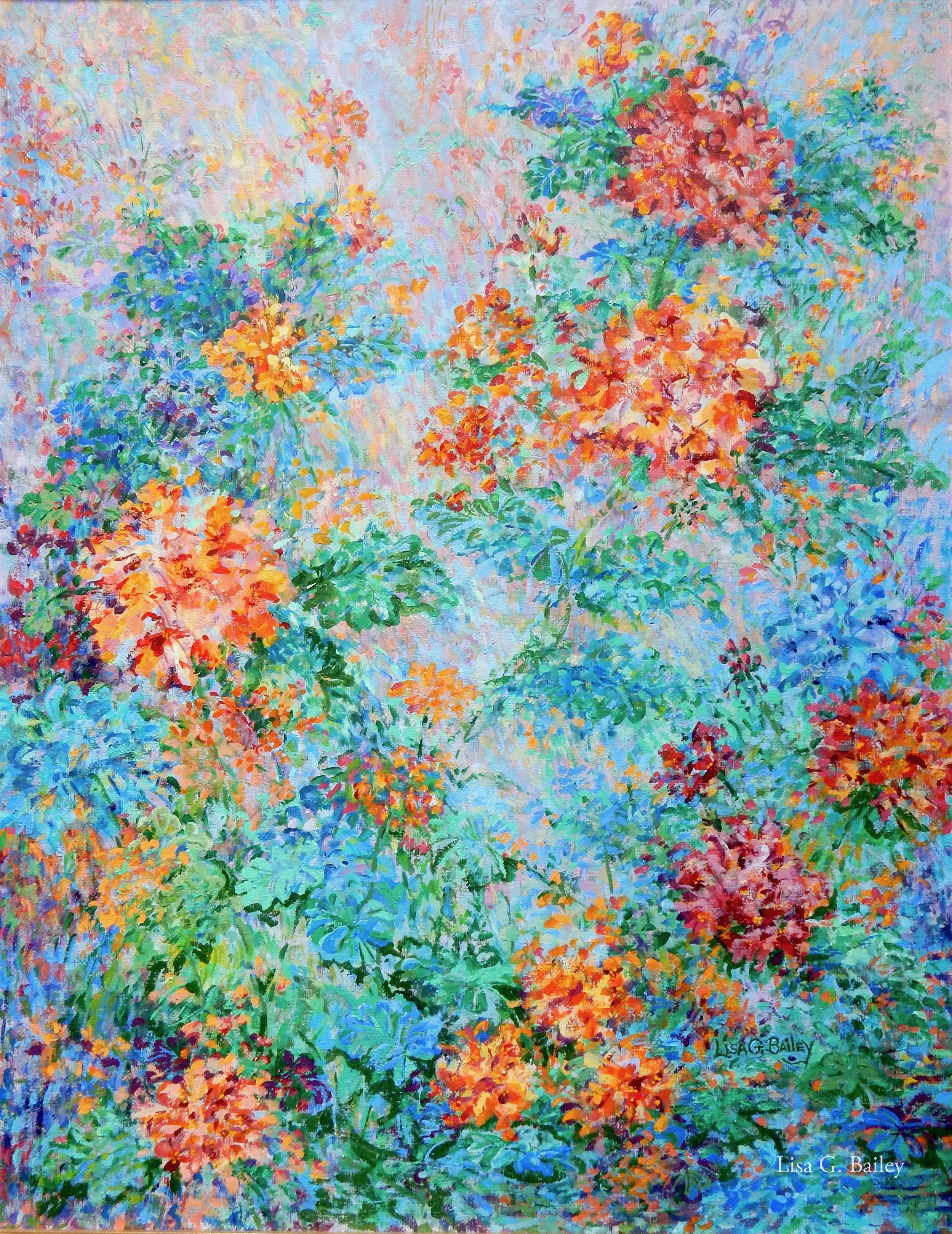 Lisa G Bailey, Efflorescence. acrylic