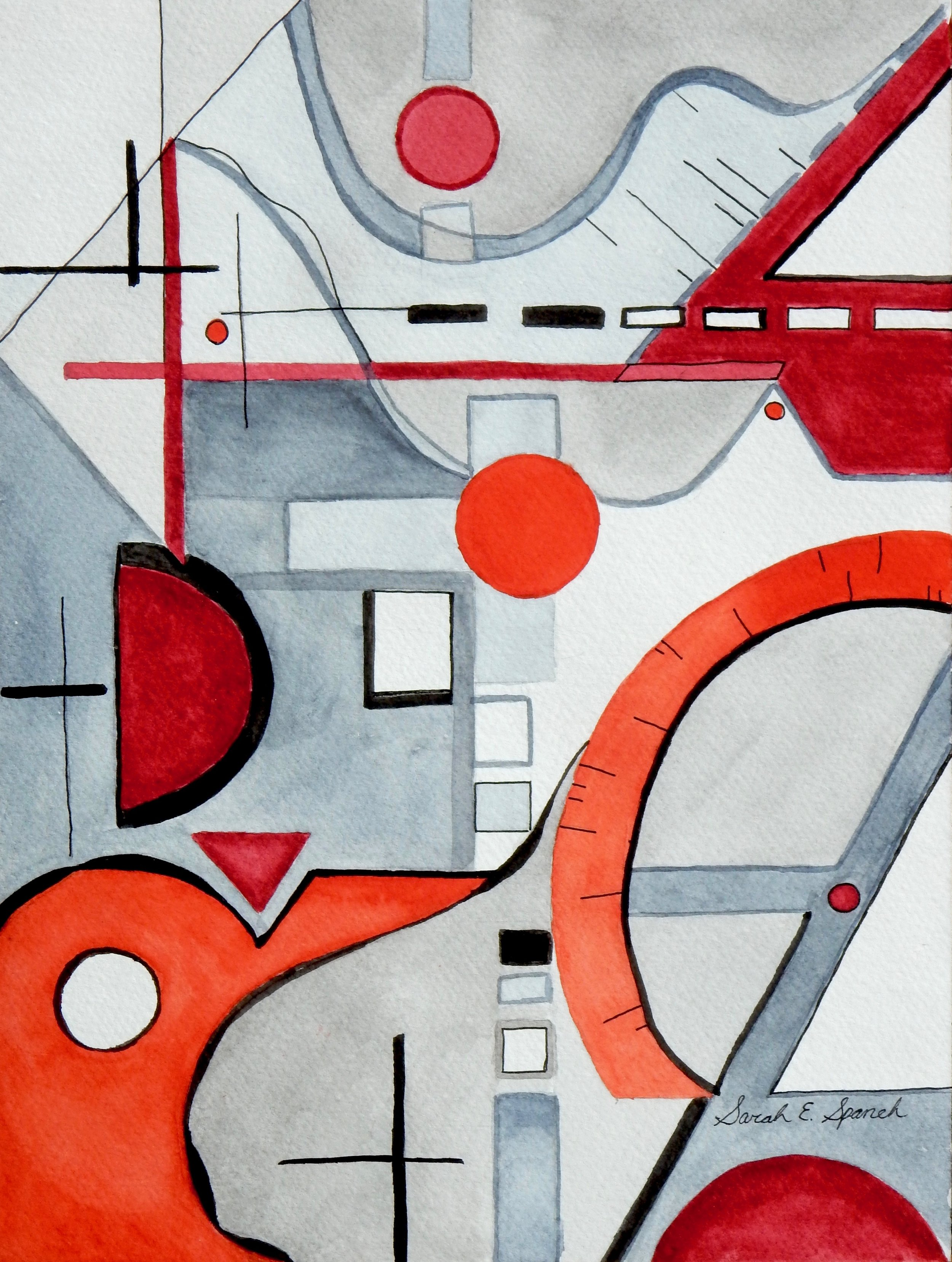 Sarah Spanek. Mathematica Misceo. watercolor