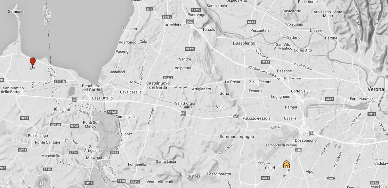 La mappa dei vigneti di Ancilla Lugana