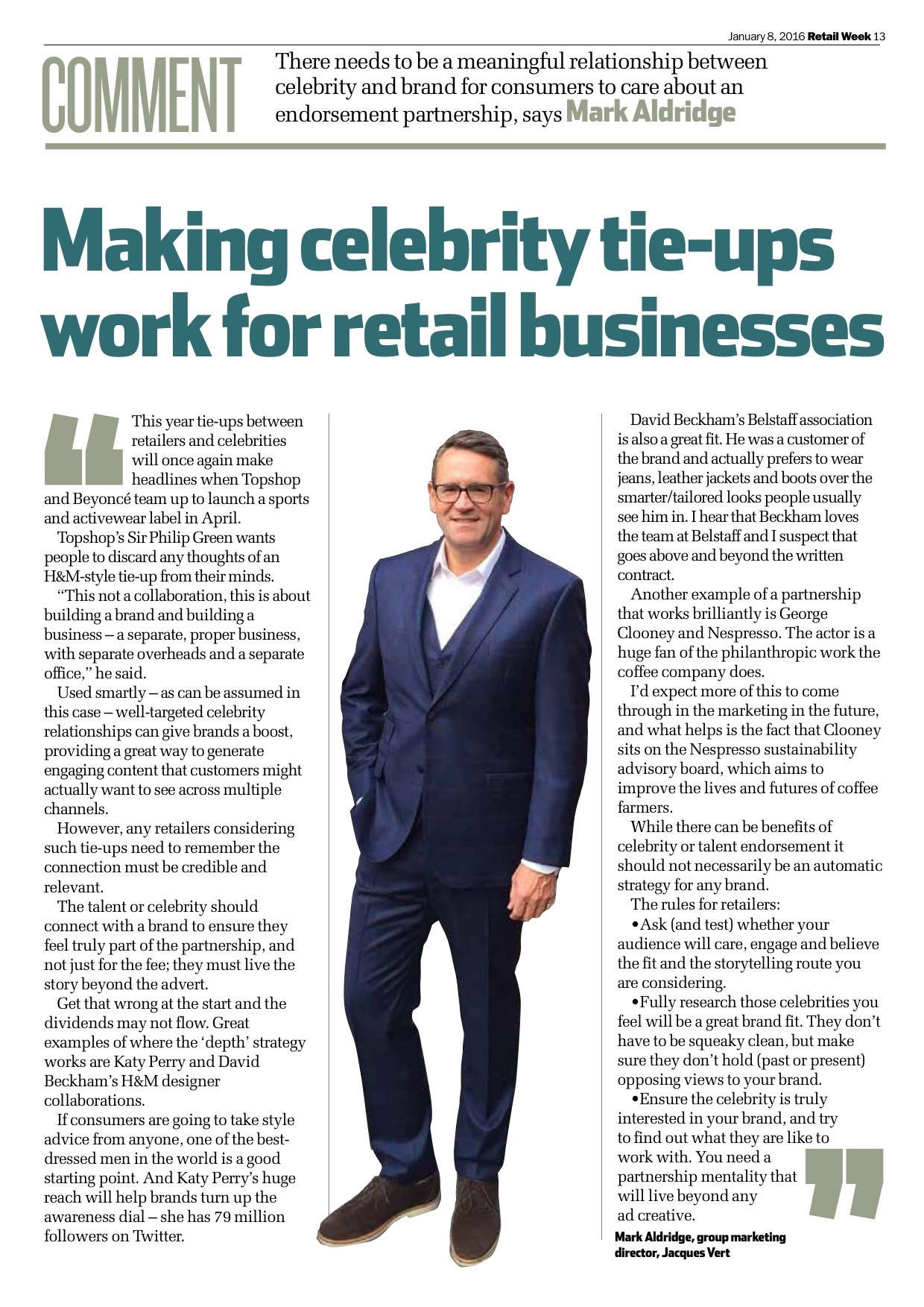 Feature in Retail Week January 2016