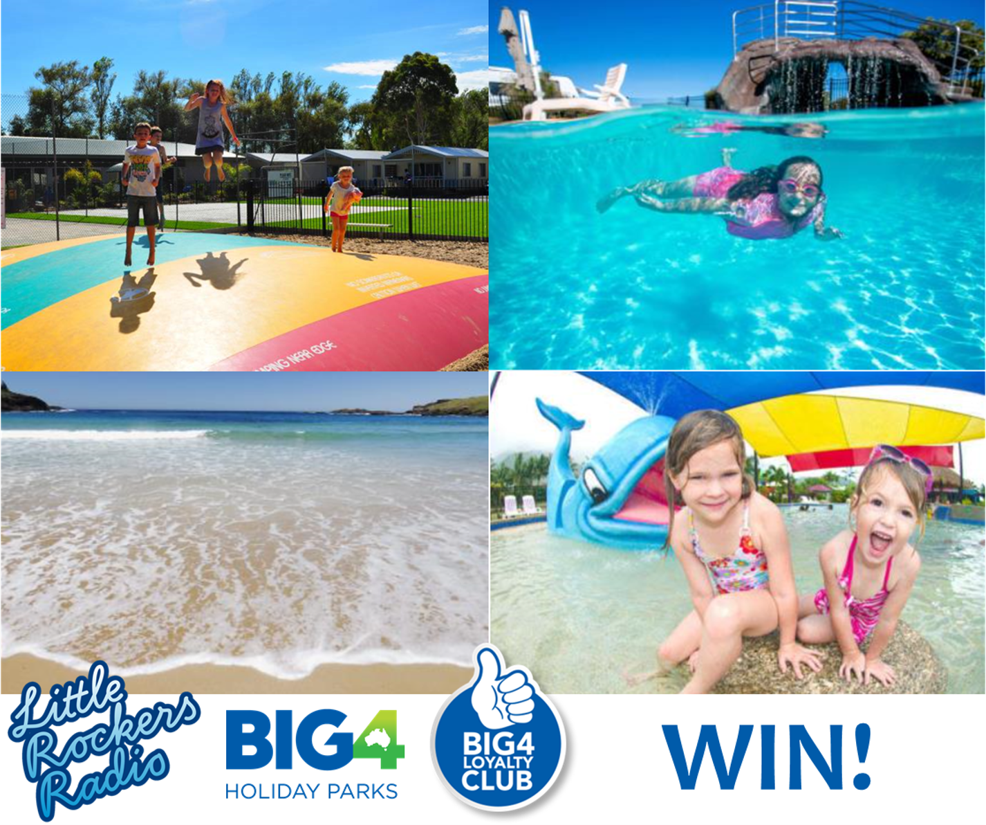 Win a 2 night getaway with BIG4 and Little Rockers Radio