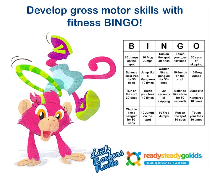 Fitness BINGO - Fun for kids - gross motor skills
