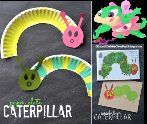 Creative activities - paper plate caterpillars