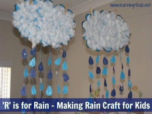 Creative Activities for kids - Making Rain
