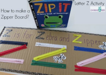 Creative Activities for Kids - Gross motor skills - zipper
