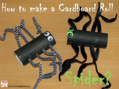 Craft Activities for Kids - How to make a cardboard spider - Halloween
