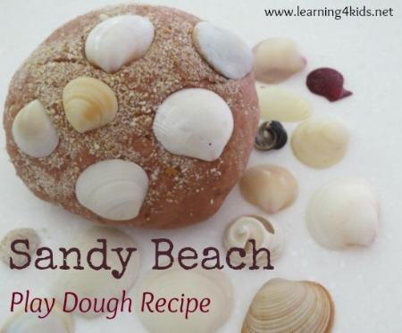 Kids Craft Activities - Sandy Play Dough Recipe