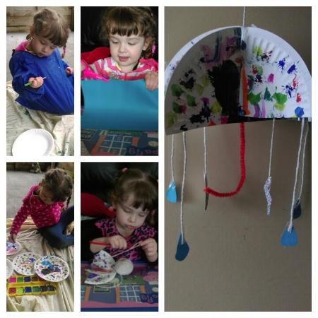 Kids Craft Activities - Umbrella Art