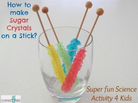 Kids Craft Activities - Make Sugar Crystals