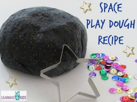 Kids Craft Activities - Space Play Dough