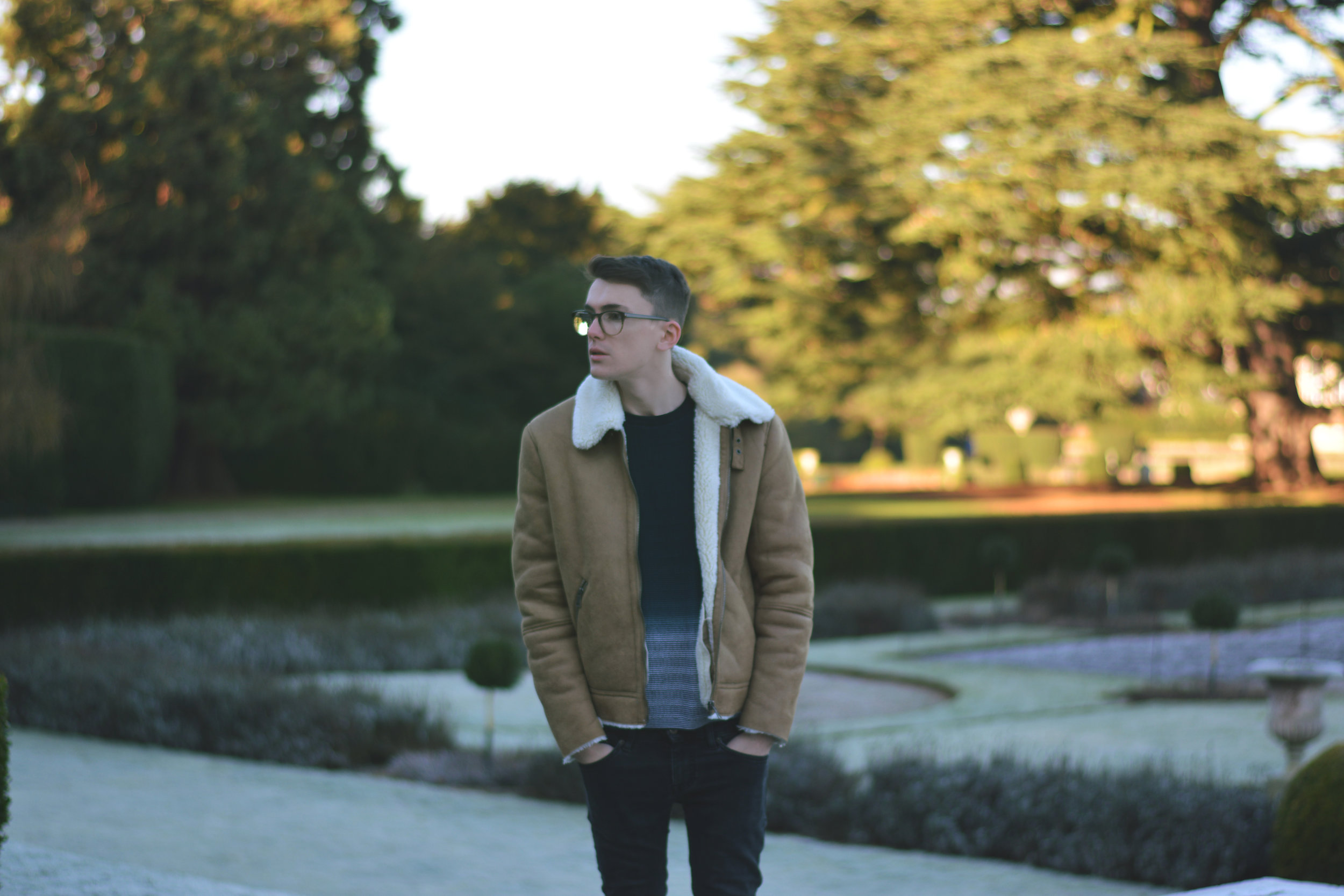 ASOS Shearling Jacket | Sam Squire UK Male fashion & lifestyle blogger