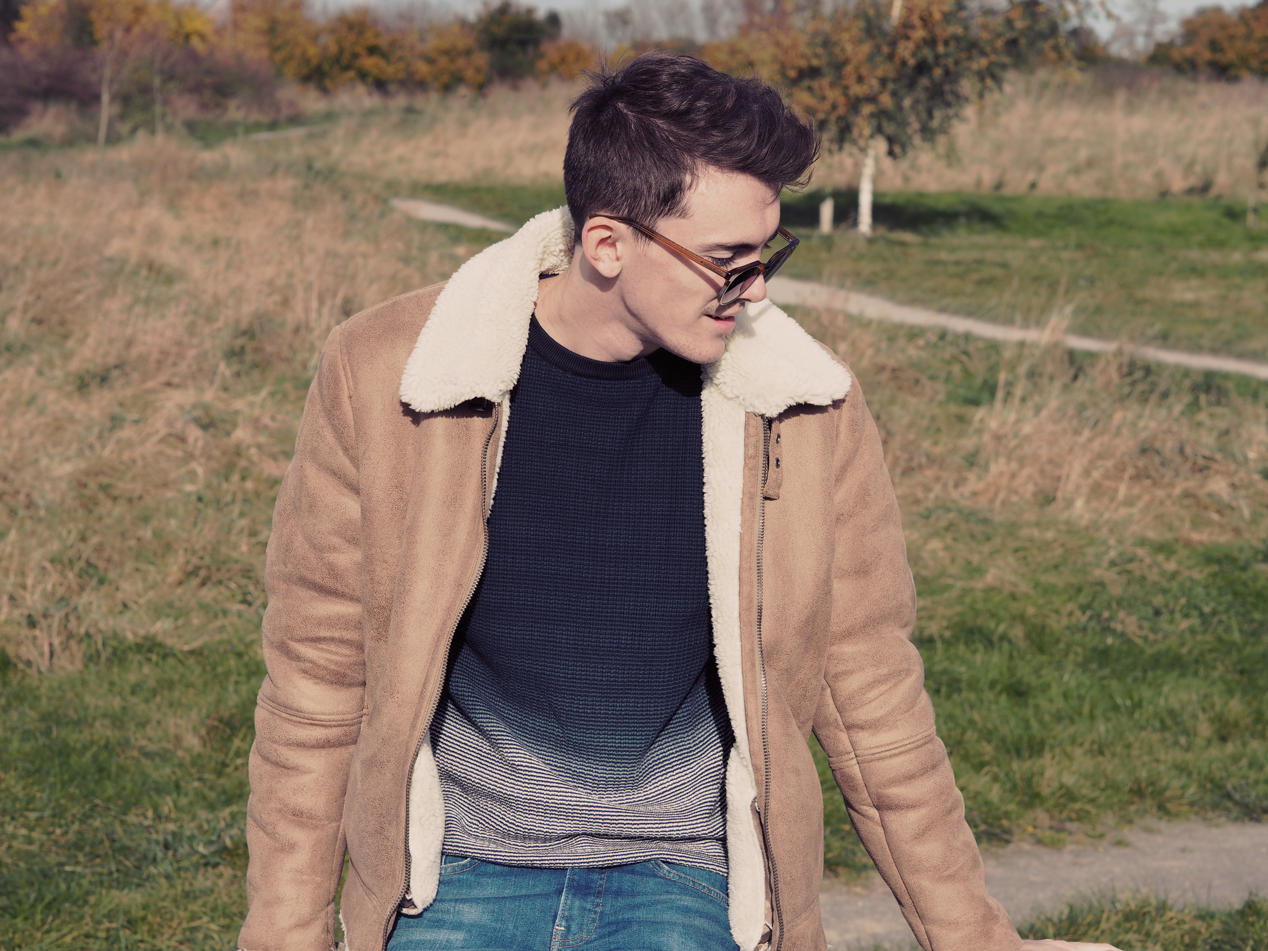 ASOS Shearling jacket | Sam Squire UK Male fashion blogger