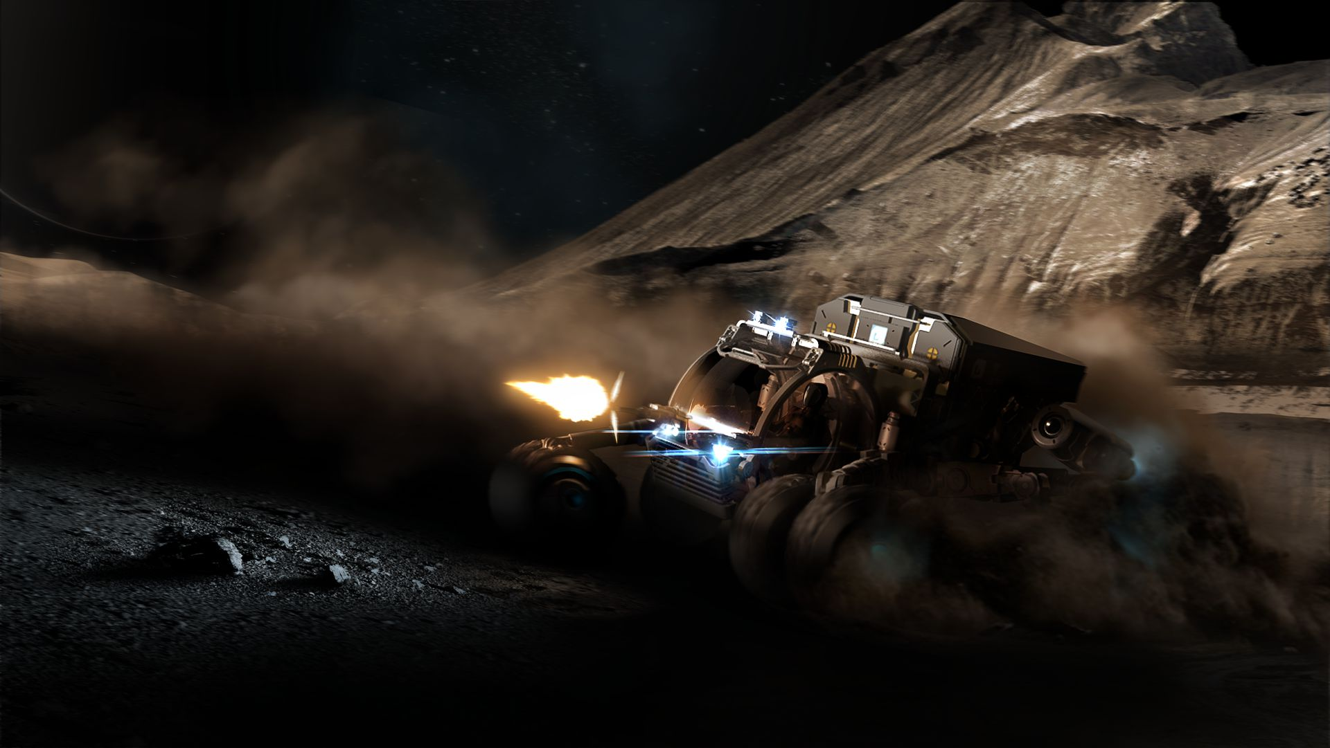 The new Surface Reconnaissance Vehicle (SRV) allows you to roam the planets surface.