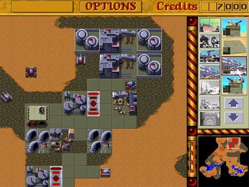 Dune 2, you had to place the tiles before placing the buildings otherwise suffer structural damage.