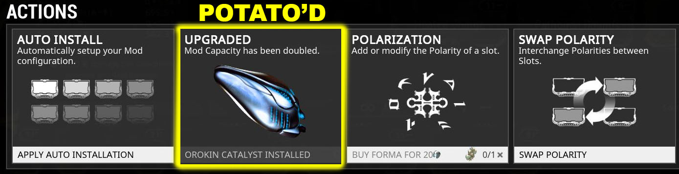 Potatoes can be bought with Platinum (20p) directly from the Action tab of the Arsenal.