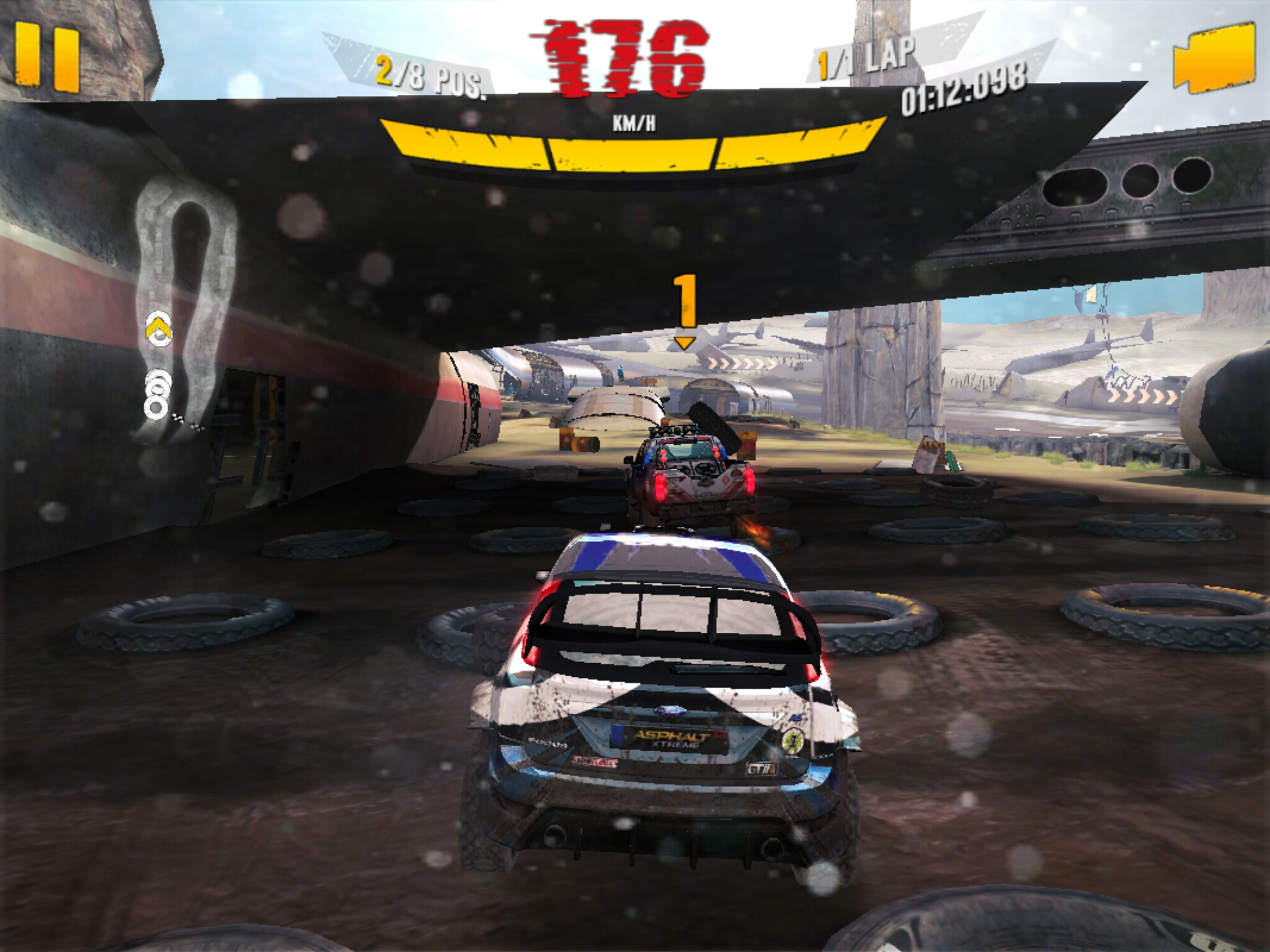 The Asphalt series is THE premier racing game on Android platforms, making really good use of the built in accelerometer for controls. This is the latest one I believe, Asphalt X-Treme. While the main stars running the game are only 2 A72 cores, the game still runs at 60fps out of the box almost all the time.