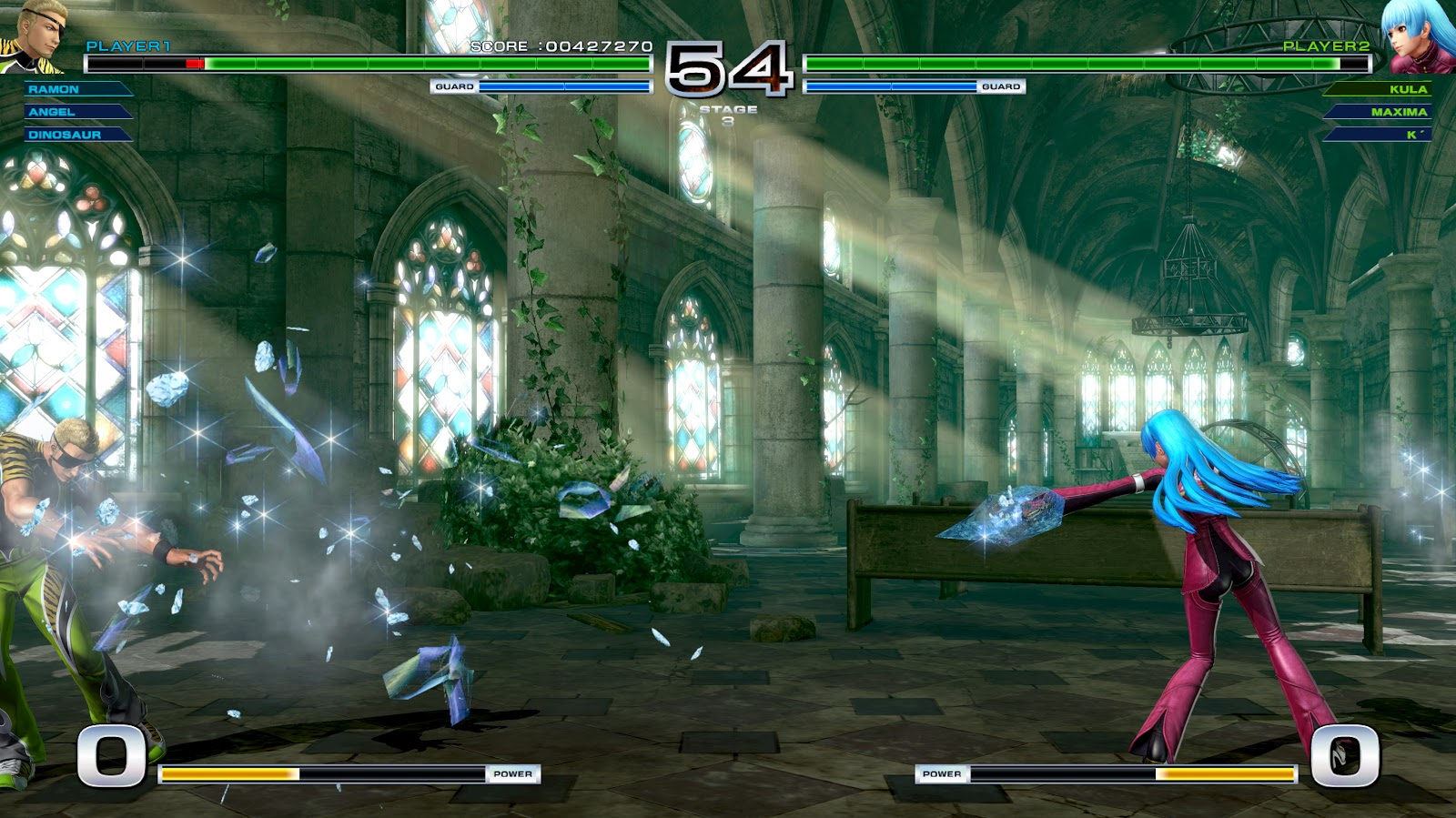 KOF XIV seems to have an annoying bug these days where upon the round transition the screen never recovers from black.