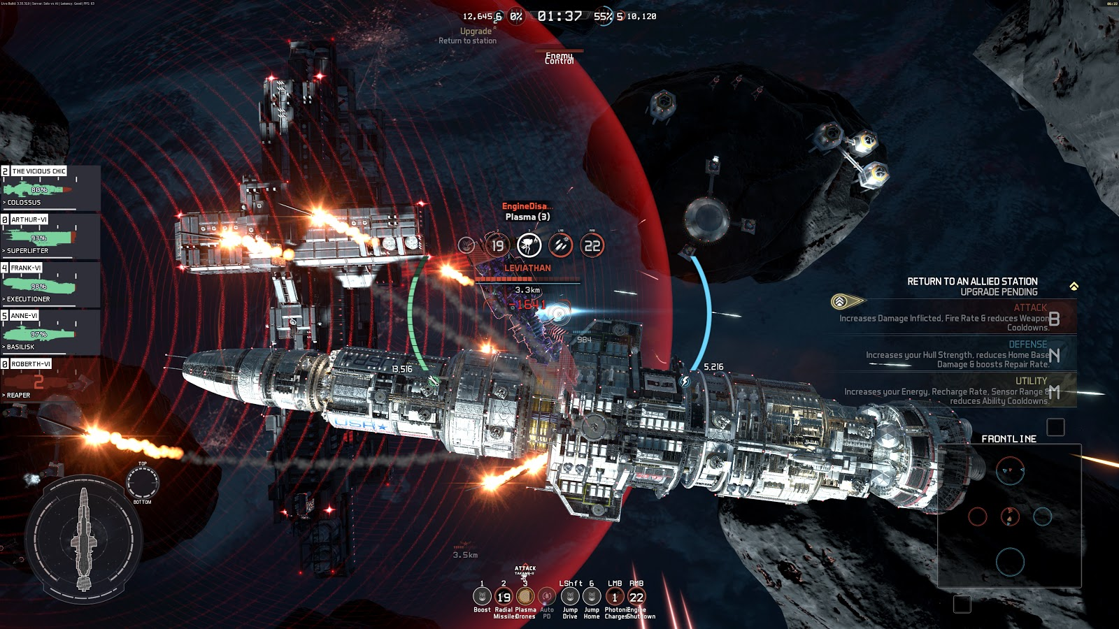 Fractured space. I first got this as a public beta that allowed me to keep a permanent copy of the game. The interface and graphics have changed over a long period of time. If you like gratituous space battles on a Star Trek scale and don't mind so many things happening at once, this game is for you.