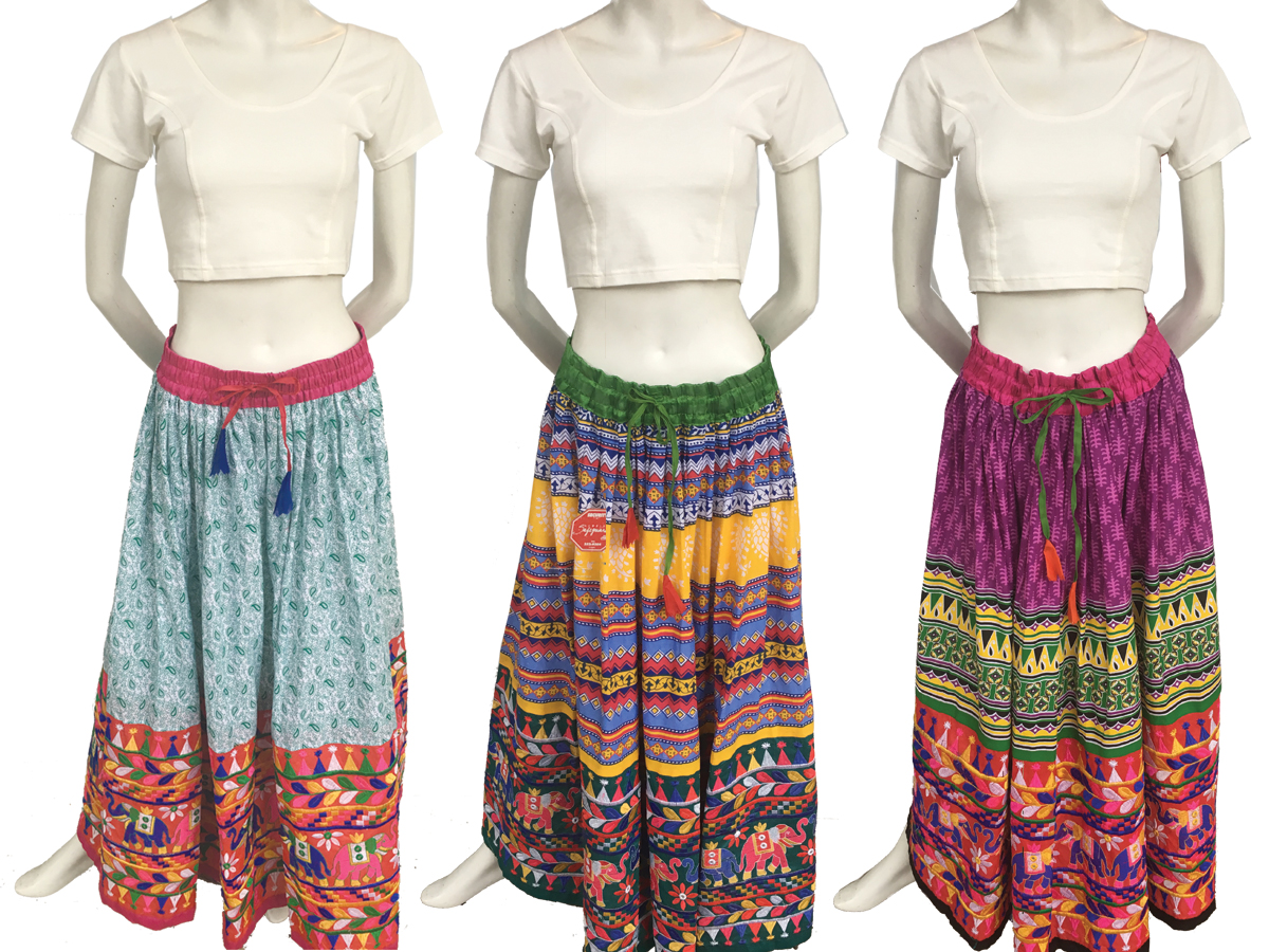 Embroidered Indian Skirt
