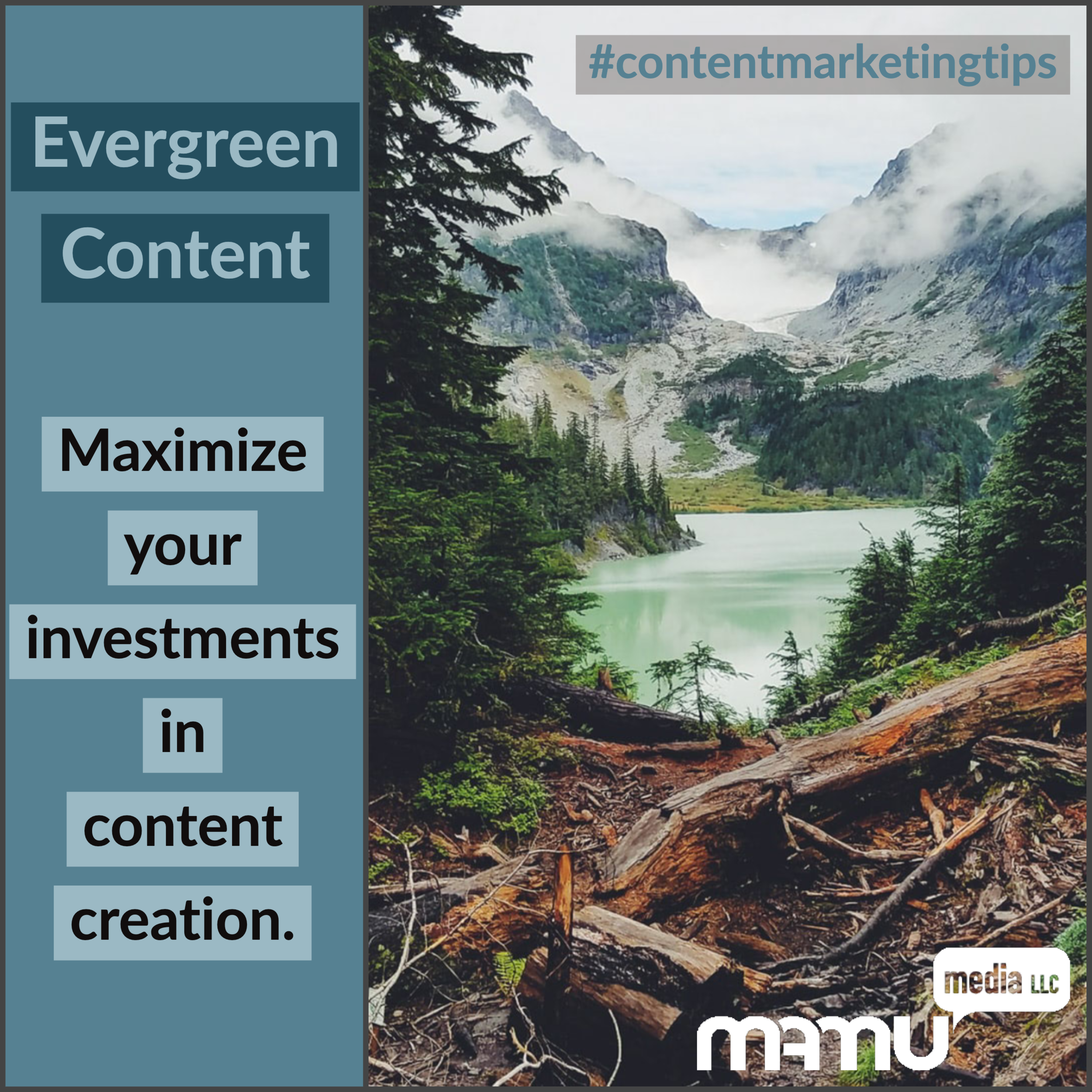 "By using evergreen content—that is, content that maintains its relevance and doesn't ""expire""—an organization can maximize the benefit of its investments in content creation."