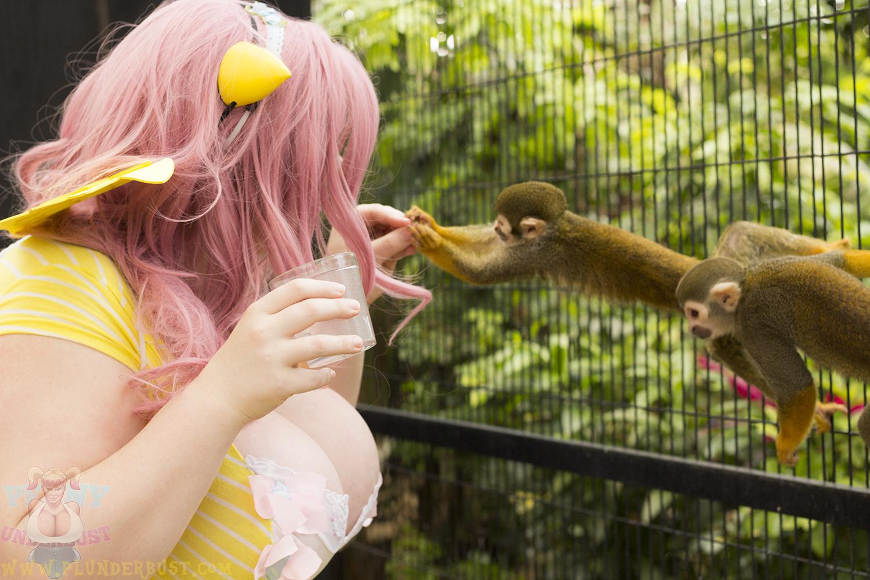 Then I met these pushy little monkeys!