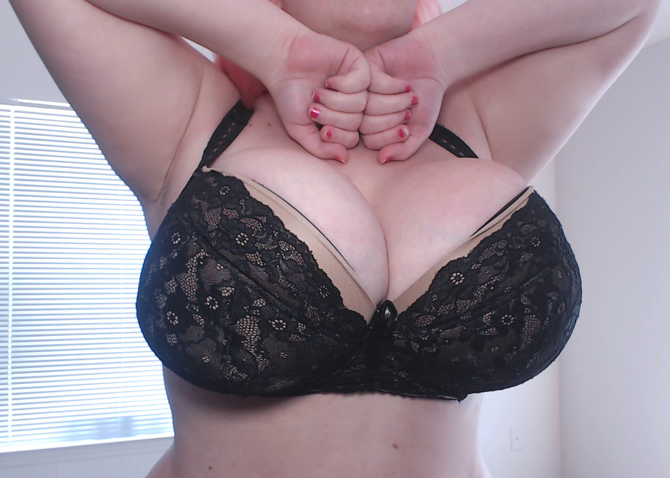 a 90K bra in a more cleavagey model also by Ewa Michalak. It's old and worn A LOT so it's not as pretty as it once was- but darn does it provide that perfect cleavage shape for me!
