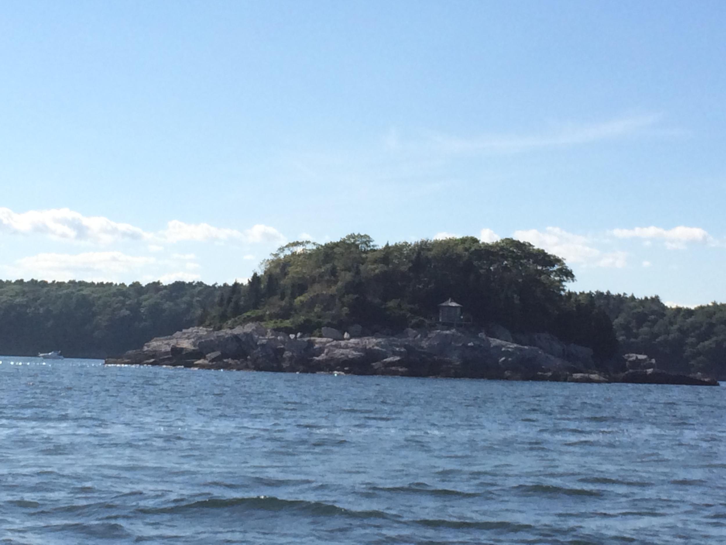"""Pumpkin Knob"" an island in Casco Bay off of Peaks Island"