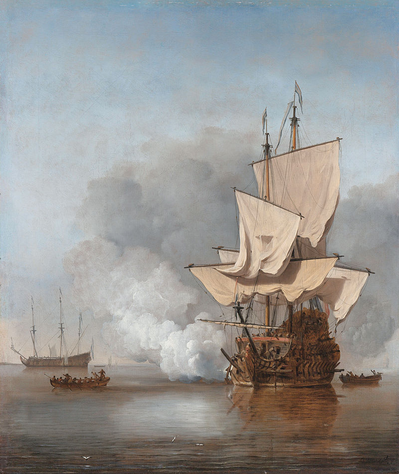 The Cannon Shot  by Willem Van de Velde the Younger