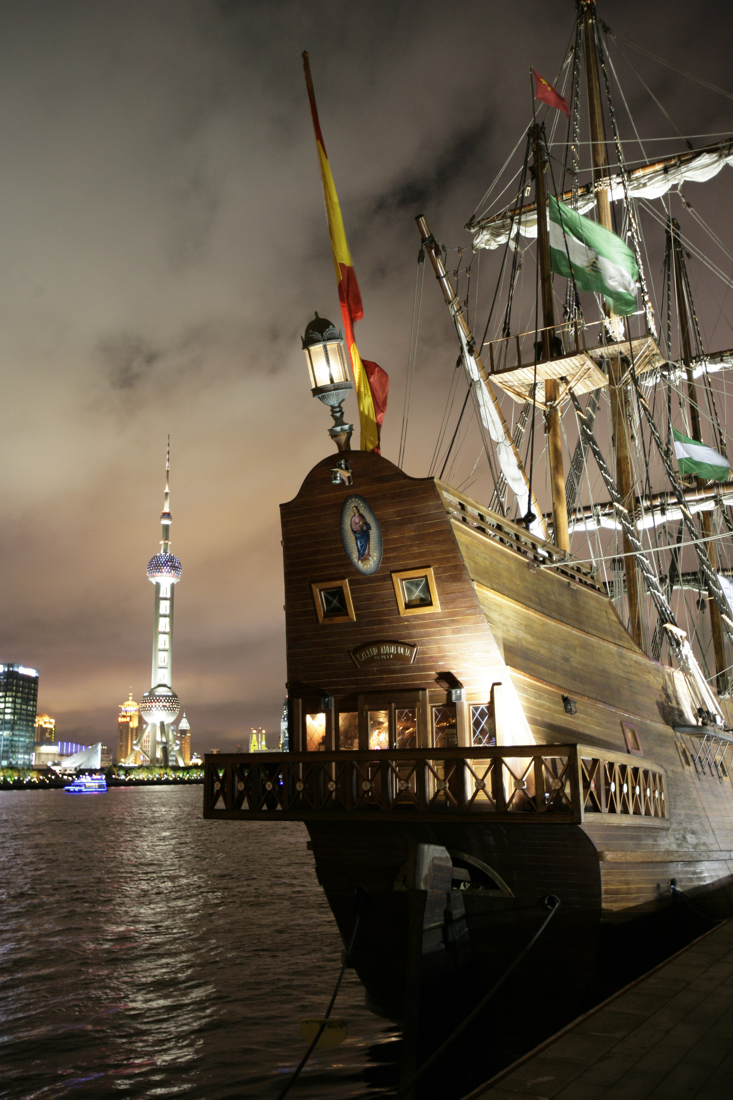 Official Tall Ships Ball   on board  El Galeon Andalucia