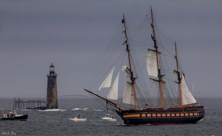 the  oliver hazard perry  under sail- they teamed up with tall ships portland to provide scholarships for 7 local teens in 2016